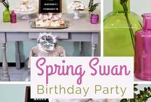 Swan Party Ideas on Kara's Party Ideas.com / All the swan party planning ideas you'll ever need! Swan themed party favors, cake, swan desserts, party games, swan princess birthday decorations and more!