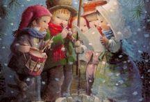 joulukortit vintage