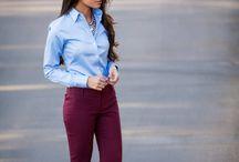 Цветные брюки/стиль/