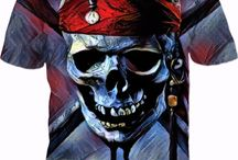 Dead Men Tell No Tales! COLORFUL SKULLY PIRATE..