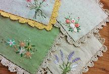 servilletas bordadas puntilla crochet