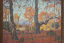 "William Wendt painting / William Wendt (American, 1865-1946) ""Patriarchs of the Grove"" Price realized: $300,000."