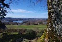 Le Puy de Manzagol - LIGINIAC / Depuis la table d'orientation, vous avez un panorama à 360° avec vue sur le lac de la Triouzoune, les montagnes du Sancy (Puy de Dôme), celles du Cantal (Puy Mary) et le plateau de Millevaches ! rien que ça ! je vous recommande ce lieux également en cette saison ou les montagnes sont enneigés ...