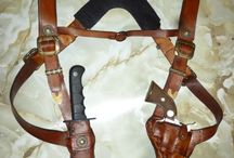 Leather work: holsters,sheathes,quivers, etc.