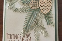 Stampin Up Tannenzauber / christmas pines