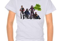 Disney Descendants Shirts / Fun Disney Descendants shirts that you can personalize or not.  Designs feature characters, Mal, Evie, Chad, Jay, Carlos, Ben, Audrey, Jay, Doug, Lonnie and movie logos.