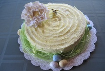 Cake - Flowers & Spring Cakes / Cakes for Spring - Bursting with Flowers / by Kathleen Cusick Shea