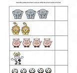 Animal Themes / preschool learning games and worksheets with dogs, cats, horses, farm and zoo animals
