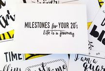 Milestones for your 20s / Birthday gifts ideas for your 20s.  perfect 21st birthday present 25th birthday #grownupsmilestones adulting is hard
