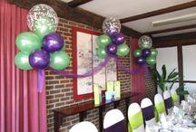 Lime & Purple / a good colour combination for a wedding with striking lime green taffeta & purple satin sash