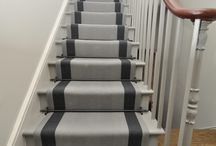 Off The Loom Stair Runner | Ashington 1 with Blenheim Stair Rods