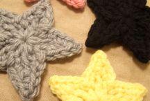 かぎ針編みの星