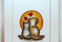 Pet card love ....