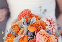 rustic vintage gold/ orange autumn wedding ideas