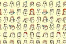 Persone e vestiti disegni