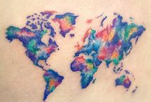 Tatuaggi Di Mappa Del Mondo