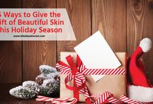 Holiday Gifts for Skin Care and Beauty / This holiday season, give the gift of healthy skin! Gift ideas, stocking stuffers, gifts for mom...