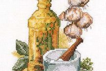 Cross stitch naturel