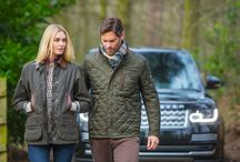 Barbour X Land Rover / Two quintessentially British brands join forces to create a modern lifestyle collection that combines Land Rover's contemporary style and Barbour's signature quality and construction. The range includes waxed and quilted jackets for men and women which offer functional and reliable protection with a luxurious edge. / by Country Attire