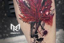 tatto liść