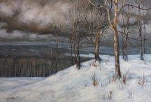 Art (winter, mountains) / art - winter, mountains