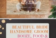 Wedding Invitation & Stationary Ideas / Discover creative and affordable wedding stationary ideas, from Save the Dates to wedding invitations. Custom wedding signs, favor tags, and more!