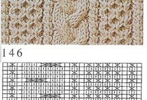 Knitting charts / Different cable models and lace patterns