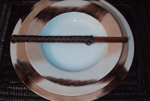 """My """"ethnic"""" dinnerware / hand painted Limoges porcelain"""