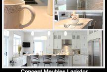 armoire vanité et mobilier intégré / Armoire de cuisine, meuble-lavabo, mobilier intégré, banquette, walk-in, salle de lavage décoration mural et plus
