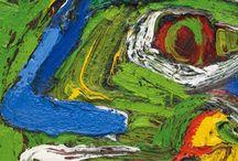 Bengt Lindstrom / Bengt Lindstrom : peintre suédois affilié aux nouveaux fauves ou néo-expressionistes. Une peinture proche de l'action painting mais restant dans le cadre de la figuration.