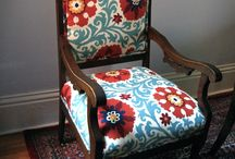 Great upholstery ideas / Pins we like that use fabrics in a great way