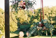 Flower and Foilage Wreaths - Weddings / Wedding wreaths, Wedding flower and foliage wreath, Boho wedding wreath, Wedding wreaths for arches, Wreath, Wedding wreath ideas, Wedding wreath inspiration, Floral installations, Wreaths for ceremony backdrop, Wreaths for ceremony