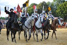 Jousting -- Mounted Melee / Features pictures from the mounted melees and mounted dueling competitions frequently held during jousting tournaments.