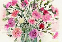Watercolour Flowers / Paintings and sketchings of my favourite flowers