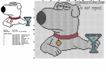Family Guy cartoon cross stitch patterns / Family Guy cartoon cross stitch patterns, free download.