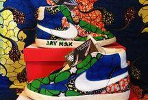 Nike - Adidas -Timberland... - Custom by Waxfeller / #Waxfeller #Custom #Sneakers #Kicks #Timberland #Ankara #Fabrics #Ewing