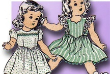 vintage doll clothes patterns / by Helen Michael