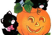 gatti neri sulla zucca!!