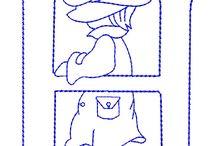 letras bordar