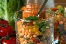 Roter Linsen Salat