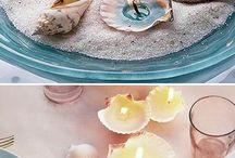 Świece / magiczna dekoracja stołu w stylu morskim