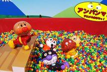 アンパンマンおもちゃアニメ❤夏の暑い日はプールで遊ぼう! Anpanman toys