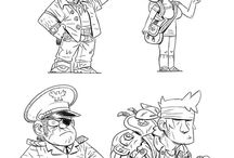 cheeky war toon style