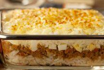arroz carne moida e queijo