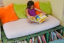 child's reading corner