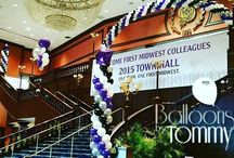 Expo, Convention, and Conference Balloon Decor / Just because it's business doesn't mean it can't be fun too!  balloon decor for conventions and expos can match the overall theme or company colors.  Use the decor to highlight a stage or point attendees in the right direction!  Want more? Visit www.balloonsbytommy.com