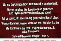 ❤️Roll Tide Roll❤️ / I am proud to be a Crimson Tide fan. I bleed Crimson blood. Win or lose I am a true Bama fan. Roll Tide Roll till the day I die. ❤️❤️ / by Tammie Brown