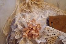 Цветы:ткань,кружево,вязаные / идеи,сделай сам