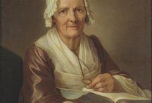 Äldre kvinno porträtt.