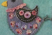 Robin Atkins wool embroidery and other things